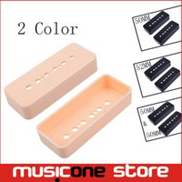 Wholesale 2pcs set Soapbar Guitar Pickup Cover mm and mm Pole Spacings for LP P90 Style Guitar black Cream color MU1249