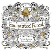 Wholesale 100pcs Enchanted Forest An Inky Quest Coloring Book