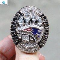 2014 anillos anillos de campeón del Super Bowl XLIX Cristal de Plata plisadas para hombres al por mayor de la joyería