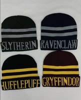 Wholesale Blended Wool Embroidery Cap Harry Potter College Hat Stripe Hat