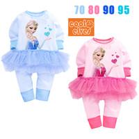 Wholesale 2015 newborn clothes frozen baby dress Frozen baby rompers baby girl dresses rompers for babies colors piece