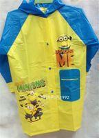 Wholesale Hot D Cartoon children Minion Minion Frozen fever PVC Raincoat Elsa Anna Snow white Princess rainwear Spider Man Pony Rainsuit raincoats