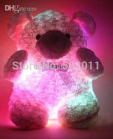 Cheap Wholesale-New arrival! Teddy Bear Pillow, LED light up xmas pillow, Animal Plush LED Pillow , Decorative Pillow,free shipping