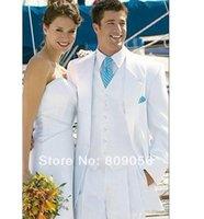 Cheap the groom suits tuxedo White Groom Tuxedos Notch Lapel Grooms Men Wedding groom wear Suit A suits for men suit 055