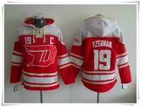 Wholesale ICE Hockey Hoodies Jerseys Wings Yzerman RED Best quality stitching Jerseys Sports Hockey jersey Mix Order