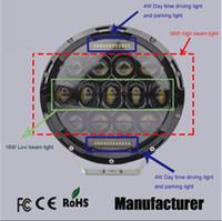 beam design - Hi low beam design W quot inch round led headlight for Jeep Wrangler X4 WD auto Driving Fog Lamp Headlight