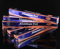 Wholesale Aluminum foil Roll Silver Paper food Wrap Outdoor barbecue baking Food Grade Kitchen Hotel Family foil m