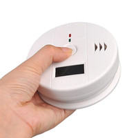 Wholesale Home Security Safety CO Gas Carbon Monoxide Alarm Sensor with LCD Display Poisoning Smoke Gas Sensor Warning Detector Tester Newest