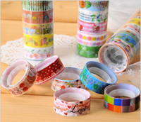 Wholesale Mini Cartoon Tape Sticker Rolls Decorative Deco Duct Retail Packing Cute Colorful Lowest Price
