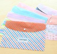 Wholesale single A4 folder A4 plastic button bag file bag document folder for office supplies cm
