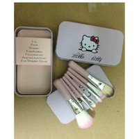 Wholesale Hell kitty makeup brush set of KT make up appliances beauty appliances best gift for children