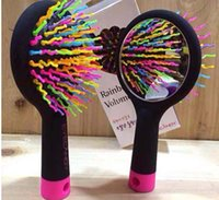 Wholesale EMS Eyecandy Eye candy Rainbow Volume comb amazing S waved brush for you hair care Hair Care Combs