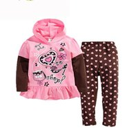 american clothing shops - 2016 Spring Girl sets Go to shop Polka Dot Long Sleeve Piece Children Outfits Kids Clothing Y