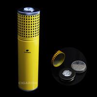 aluminium finish - COHIBA Aluminium Alloy Gloss Finish Cigar Jar Tube Humidor W Humidifier Hygrometer