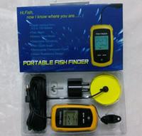 Wholesale 100m Portable Sonar Sensor Boat Fish Finder Fishfinder LED Back lighting Alarm Beam Transducer