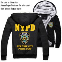 warm up jackets - New York police Thick jacket NYPD winter warm Flannel Hoodie Coat Unisex Cashmere Sweatshirts Hooded Windbreaker Hot Slae New