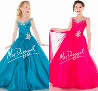 Cheap Girls Pageant Dresses Best Crystal Beaded