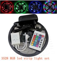 Wholesale Waterproof SMD Waterproof LEDs RGB Flexible LED Strip Light Color Changing Kit Key IR Remote Controller V A Power Supply