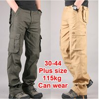 overalls for men - 30 Plus size High Quality Men s Cargo Pants Casual Mens Pant Multi Pocket Military Overall for Men Outdoors Long Trousers