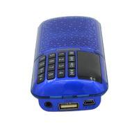 Wholesale Chinese brand mini portable LCD digital FM radio mini radio surround sound mini speaker MP3 player support TF card USB