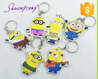 banana strap - Despicable Me Banana Mini Keychain Key Chain Key Ring doll toys gifts for Lovers kids Straps Charms