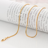 18k gold chain for men - chain Classic long cm thin round snake gold chain for men women mm grams K yellow gold filled pendant necklace