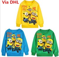 Wholesale Despicable Me Kids Spring Autumn Long Sleeve Sports Tshirt Boys Girls Minions Activewear Children Casual Clothes Colors Via DHL