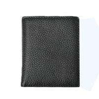 bi leather - S5Q Mens Stylish Simplicity Waterproof Cowhide Leather Bi Fold Mini Wallet Purse AAAFIN