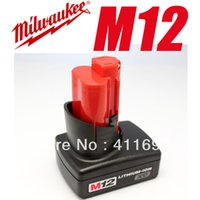 Wholesale 1 Piece Milwaukee M12 battery RED LITHIUM Volt Lithium ion XC Battery M12 Series order lt no track