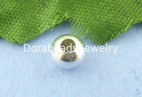 Wholesale hot Silver Plated Smooth Ball Spacers Beads mm in Dia B00871