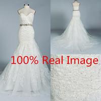 Cheap 2016 Cheap Amelia Sposa Mermaid Wedding Dresses Real Image Full Lace Sash Beading Sweep Train Custom Made Vintage Bridal Gowns For Church