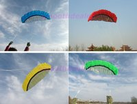 Wholesale m Power Dual Line Parafoil Parachute Sports Beach Kite Easy to Fly Colors