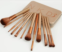 Wholesale Professional New Makeup Brushes Gold Brushes Cosmetic Make Up Set With metal box