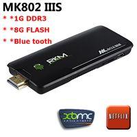 Wholesale Maike CS2149 Rikomagic MK802 IIIS Mini PC Blue Tooth Mobile Remote Control RK3066 Cortex A9 GB RAM G ROM HDMI TF Card IIIS G BT