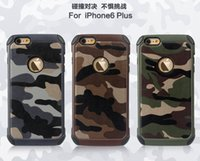 army camouflage material - 2016 Camouflage style outdoor sport in soft TPU and hard PC material phone case for Iphone5 s Iphone6 plus Army Green back cover
