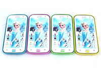 Wholesale hot selling cartoon frozen English language education toy cellphone with projection for children gifts electronic mobile phone