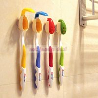 Wholesale 1Set Bathroom Supplies Portable Antibacterial Smile Face Toothbrush Cover Holder Protector Suction