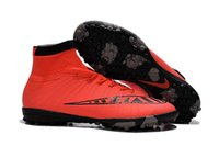 Wholesale Men s Mercurial MercurialX Proximo Street TF Soccer Boots Cleats Laser Men shoes Soccer Shoes Football Shoes