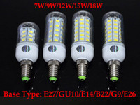gu10 led - LED Light Warm White E27 LED Bulbs W W W W W Lumen Cree SMD With Cover leds GU10 E14 B22 G9 Led lights Corn Lighting