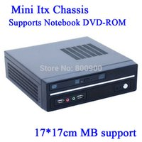 Wholesale factor mini itx type chassis U S version of Mini ITX motherboard small chassis Ion platform E350 Mini HTPC Car PC Black U