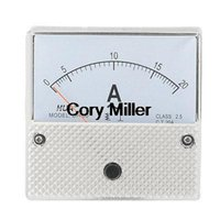 Digital Only AC 0-20A White Clear Analogue Needle AC 0-20A Class 2.5 Accuracy Ampere Panel Meter order<$18no track