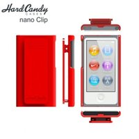 Wholesale MOQ High Quality hard Candy Case with clip for iPod Nano Retail package freeshipping