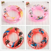 baby pool seat - Frozen Spider man KT Cars PLEX Snow White Swin Baby Girl Kids Inflatables Floats Swimming Rings Trainer Pool Seat LJJH373