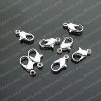 lobster claw - Fashion Jewelry Findings Jewelry Pendants Connector Iron Silver MM Lobster Claw Clasp