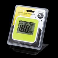 Wholesale Indoor temperature humidity Meter Digital Thermometer Hygrometer Moisture Meter LCD Display DC205 in retail box