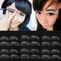 Wholesale Eyebrow Stencils styles DIY Template Makeup Tools Beauty Brow reusable eyebrow Drawing Guide Styles Grooming Stencil Kit Set