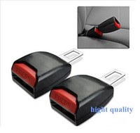 Wholesale PAIR HIGH QUALITY BLACK AUTO VEHICLE CAR SEAT BELT BUCKLE CLIP EXTENTION EXTENDER SAFETY ALARM STOPPER INTERIOR ACCESSORIES top sale