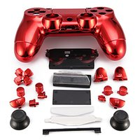 Wholesale New Replacement Controller Case for PS4 Controller PS4 Case Plating Red golden silvery