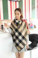 Wholesale Hot fashion big scarf Wool Blend Plaid Printed Scarf Shawl Beige Ms hedge cloak Multifunctional scarf Size cm color options g