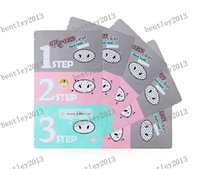 Wholesale Pig Nose Mask Blackhead Remover Nose Mask Three step Kit Deep Cleanser Korean Cosmetics Face Nose Treatment Mask